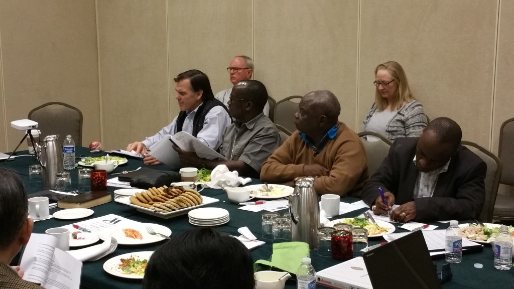 Bishop Jones gathers with the College of Consultors and Partner Bishops in Dallas.