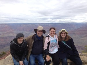 Deacon Miller and her family at the Grand Canyon