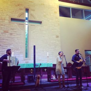 Liturgical Folk performs in Tyler, TX during their Pentecost tour