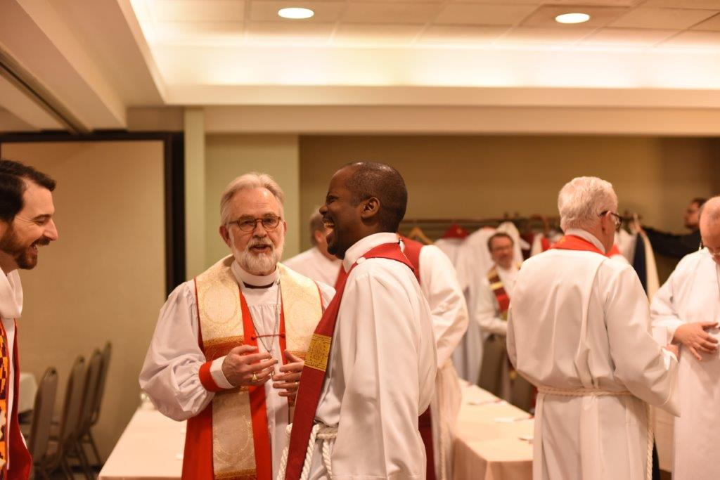 Clergy vesting for Opening ceremony. Winter Conference 2018