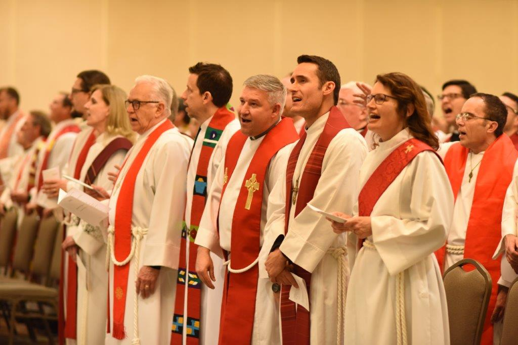 Clergy in Opening Service. Winter Conference 2018