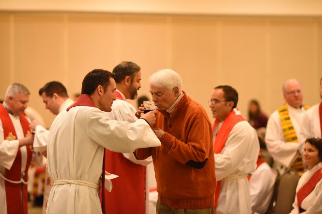 Communion served by Dustin+ Freeman at Winter Conference 2018.