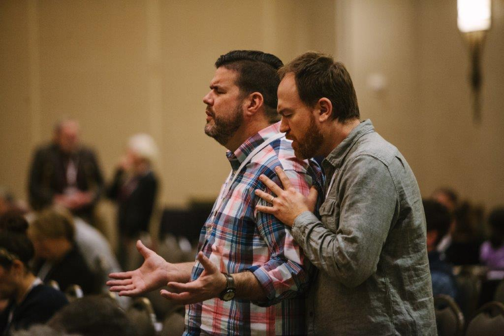 Prayer at Winter Conference 2018.