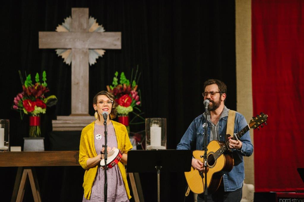 Melissa and Ryan Flanigan with Liturgical Folk