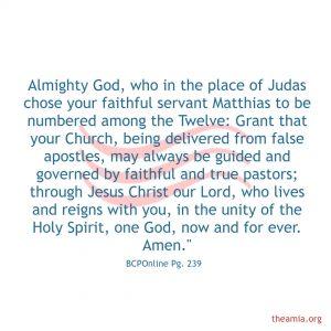 St Matthias, Apostle (transferred)