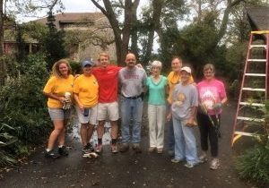 Members of All Saints and members of the Anglican Disaster Preparedness and Relief Team partnered to help many members of the church and their neighbors.
